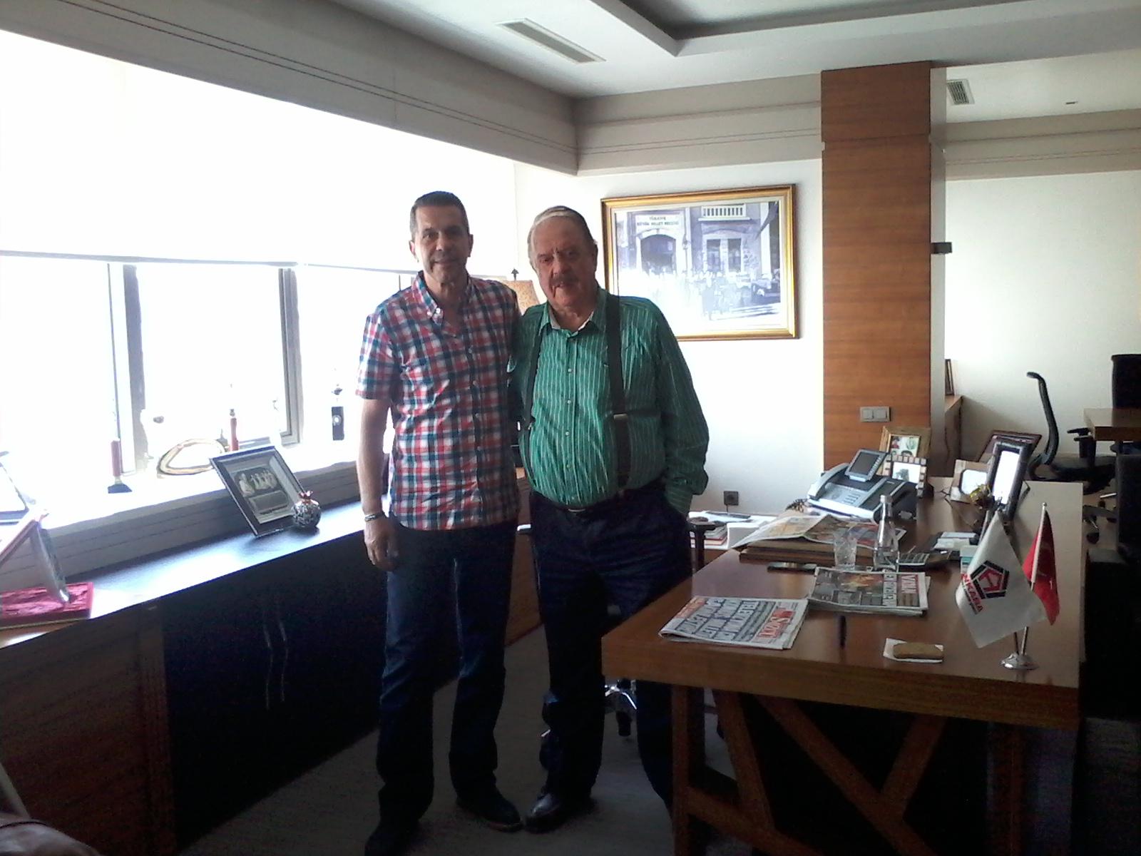 Gençlerbirliği Başkanı Ilhan Cavcav ile söyleşiden sonra… Eylül 2015