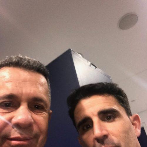 Tottenham Hotspur'ün yardımcı hocası Jesus Perez ile - Aralık 2018