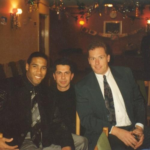John Barnes ve Mike Hooper ile birlikte - Sene 1991...