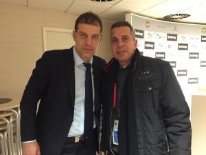 Slaven Bilic ile West Ham - West Brom maçından sonra... Aralık 2015
