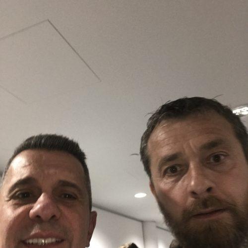Fulham'ın Premier Lig'e çıktığı maçtan sonra, hocaları Slavisa Jokanovic ile...